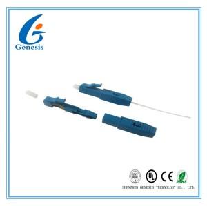 LC UPC Fibre Optique Connecteur Rapide Pre - Embedded Bleu Pour Câble