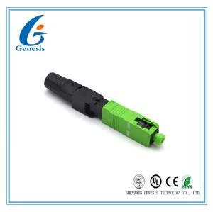 Connecteurs De Fibres Optiques, SC APC 60mm Champ Installable