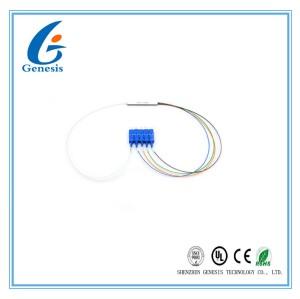 Haute Fiabilité Fibre Optique PLC Splitter 1 X 4 Type Mini Avec Connecteur