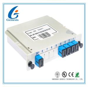 SC APC Fibre Optique PLC Splitter Type De Cassette De Structure Modulaire