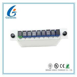 ABS Matériel Fibre Optique PLC Splitter 1 X 8 SCUPC Cassette Type Gris