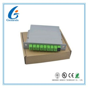 Cassette Carte Insertion Fibre Optique PLC Splitter 1 X 16 1 X 32 Modulaire