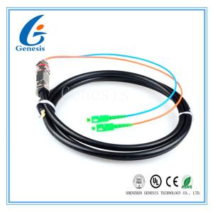 tresse imperméable de Sc/RPA de 5M, câble optique de fibre de mode unitaire de noyau de G652D 2