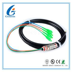 Le tresse optique de fibre de Sc de 4 noyaux câble le rongeur résistant imperméabilisent avec la veste noire