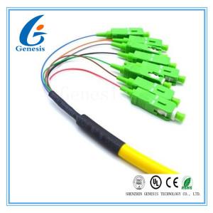 Empaquetez le noyau de fibre optique de la corde de correction de tresse de SM 8 à plusieurs modes de fonctionnement avec le connecteur de Sc/RPA
