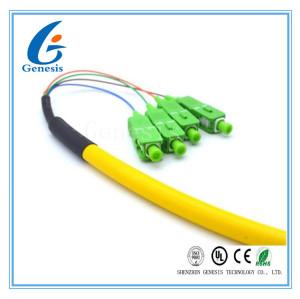 Le simplex de tresse de Sc G657A1/RPA, jaunissent le câble optique de fibre de mode unitaire de 4 noyaux