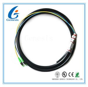 Veste noire de tresse de noyau de fibre optique extérieur de Sc/RPA 2 pour le LAN