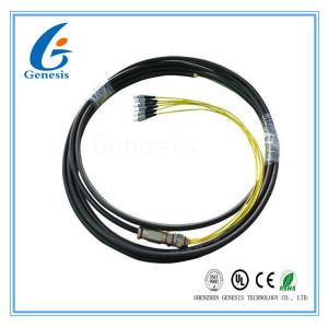 Câble de fibre optique de ruban imperméable de fibre optique de tresse de 6 noyaux pour des réseaux