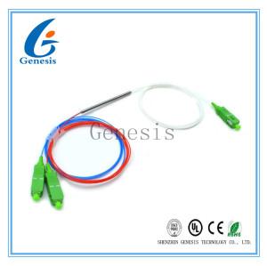 1310/1550nm 50/50 connecteur de coupleur de fibre du rapport 1x2 FBT de diviseur de Sc optique/RPA