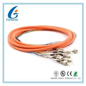 2.0 / SM flexible millimètre OM4 OM3 FC 4 - de tresse de fibre optique de 3.0mm noyau 48 pour WAN