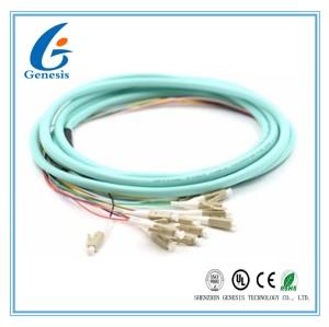 3 mètres de fibre d'Aqua optique de tresses OM2/OM3 FC 12 MM5010Gb revêtu pour FTTH