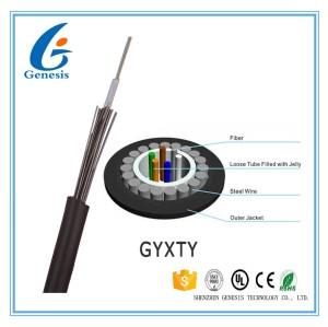 Câble optique blindé extérieur de fibre de câble de GYXTY de tube de fibre optique en acier Uni -