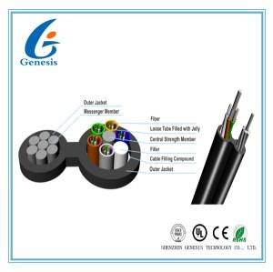 L'individu a soutenu le câble optique aérien de fibre, le câble d'interface de 2 à 144 fibres GYTC8A