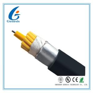 Câble optique imperméable de fibre de gaine noire, tresse optique de fibre pour d'intérieur/extérieur