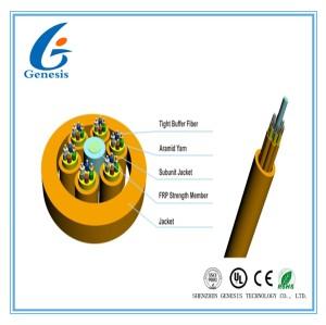 Câble optique multi de fibre de noyau du but 12, câble souterrain optique de fibre d'évasion