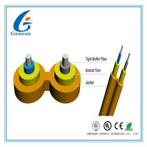 Interconnexion duplex d'intérieur de Zipcord de câble de fibre optique à plusieurs modes de fonctionnement avec la gaine de LSZH