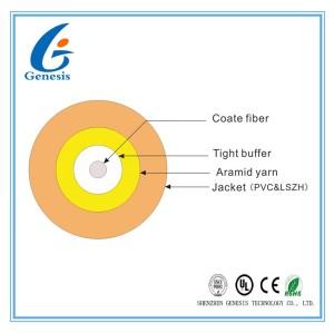 Mode unitaire d'intérieur de noyau de câble de fibre optique recto rond 1/mode multi pour d'intérieur