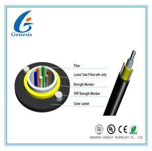 Noyau non métallique du câble optique 8 de fibre d'Unitube non - 2KM blindés avec la gaine de PE