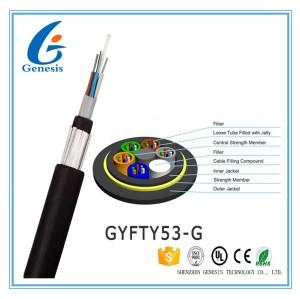 Le conduit/gaine de fibre optique blindée aérienne de noir de câble a échoué le tube lâche