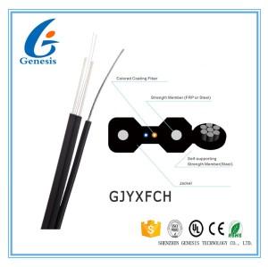 4 gaines noires de câble de noyau/blanches autosuffisantes de fibre optique de LSZH pour FTTH