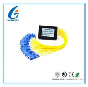 Bon diviseur optique de PLC du noir SCUMP 1x32 de diviseur de PLC de fibre de représentation de PDL