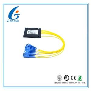 diviseur de PLC 1X8 avec la cassette noire, diviseur optique de PLC de fiabilité pour FTTB