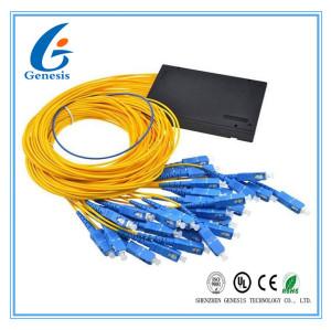 Bas diviseur stable de PLC 1X16 de PDL, type en acier diviseur optique du tube 900um de coupleur de fibre