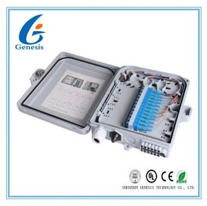 12 boîte de jonction imperméable optique de la boîte d'arrêt de fibre de ports 22,2 * 20,4 * 5.4cm