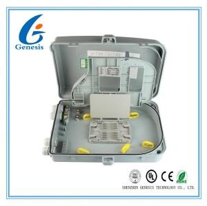 24 boîtes optiques matérielles optiques d'arrêt d'ABS de boîte de distribution de fibre des ports FTTH
