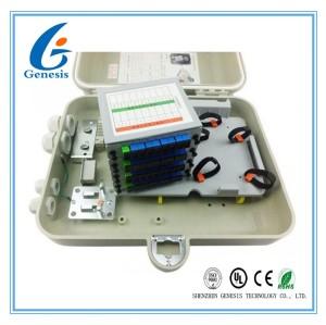 Boîte matérielle optique d'arrêt de câble de SMC de ports de la boîte de distribution de fibre de FTTH 32