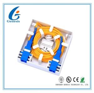 Clôture optique d'intérieur de bâti de mur de fibre de noyau du port 2 de boîte de distribution de fibre mini 2