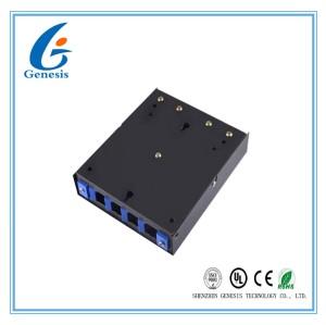boîte de câble optique de fibre du port 0.32kg 4, boîte de distribution de fibre optique d'adaptateur de St FC de Sc