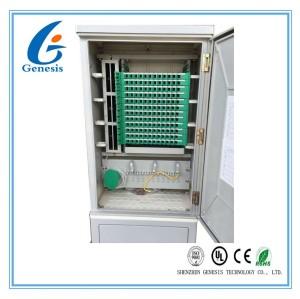 Cabinet de distribution de fibre optique matériel de SMC, clôture de bâti de mur de fibre de 144 noyaux