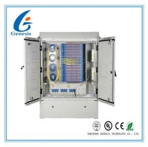 Boîte de jonction optique de fibre de 576 FDH, Cabinet croisé optique extérieur de la connexion IP65