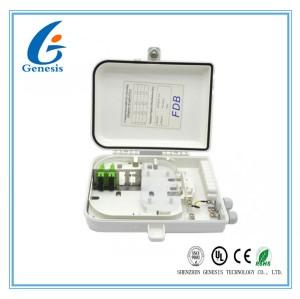 Support optique de mur de boîte de distribution de fibre d'intérieur de 12 noyaux ou support de Polonais