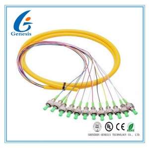 FTTH-Lichtwellenleiter in mehreren Betriebsarten, FC-/APC-12 Kern-Lichtwellenleiter