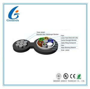 Selbst stützte Luftlichtwellenleiter, 2 bis 144 Faser-Transceiverkabel GYTC8A