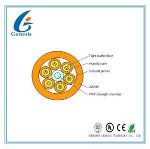 Multi Kern-Lichtwellenleiter des Zweck-12, Ausbruch-Faser-Optikuntertagekabel