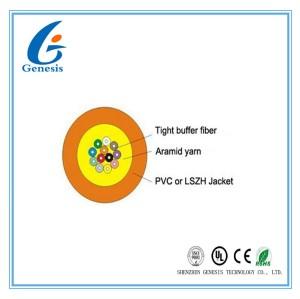 Gelber/orange Mikrolichtwellenleiter, Antidrehungs-Einmodenfaser-Kabel