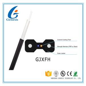 Flache Art des Lichtwellenleiter-GJXFH, LSZH-Hüllen-Faser-Optiktransceiverkabel 1KM/2KM
