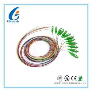 SC FC LC SM 접속 코드/떠꺼머리 12 핵심 광섬유 점퍼 케이블 관례 길이
