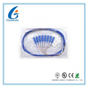 SC/APC SM 9/125 8 핵심 1M 광섬유 뭉치 떠꺼머리 CATV 떠꺼머리 접속 코드