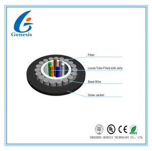 GYXTY Steel Optical Fiber Cable Uni - Tube Outdoor Armored Fiber Optic Cable