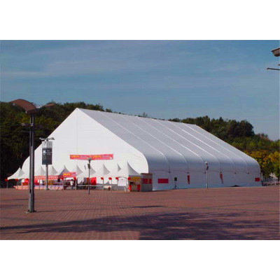 White  Curve Marquee Tent  For Catering  300 People Seater Guest