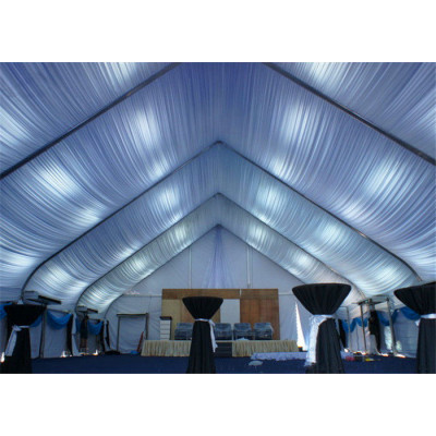 Clear Curve Marquee Tent For Banquet Hall 200 People Seater Guest