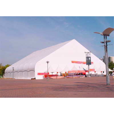 White  Curve Marquee Tent  For New Product Show  1000 People Seater Guest