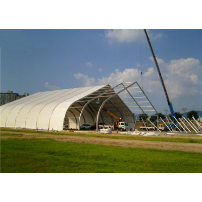 Curve  marquee tent for Ice skating rink in size 15x40m 15m x 40m 15 by 40 40x15 40m x 15m