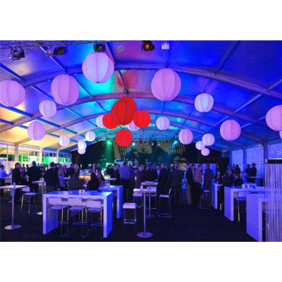 White Arcum Marquee Tent For Catering 300 People Seater Guest