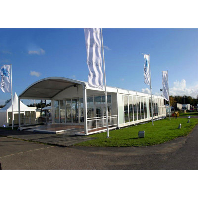 White Arcum Marquee Tent For New Product Show 1000 People Seater Guest