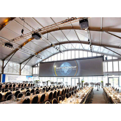 Aluminum Pvc Arcum Marquee Tent For Conference 2000 People Seater Guest